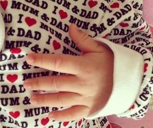 baby, dad, and mum image