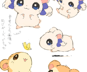 hamtaro, cute, and anime image