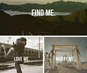 love, marry, and find image