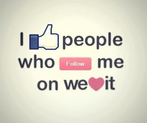 please, follow me, and love you guys image