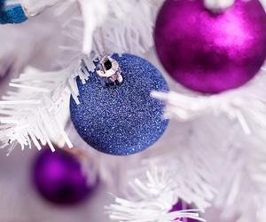 ball, blue, and christmas image