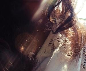 bokeh, girl, and sun image