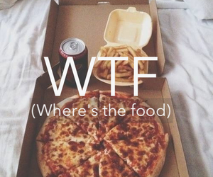 food, pizza, and wtf image