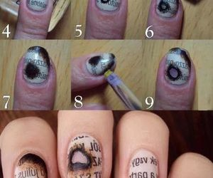 nails, diy, and newspaper image