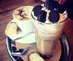 oreo, food, and coffee image