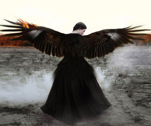 angel, dark, and fantasy image