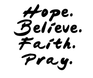 hope, pray, and quote image