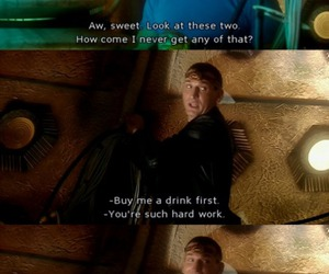 captain jack harkness, funny, and the doctor image