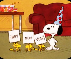 snoopy, happy, and happy new year image