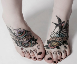 tattoo and feet image