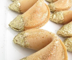 food, sparkle, and fortune cookie image