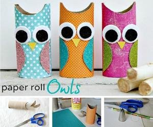 diy, owl, and paper roll image