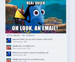 dory, facebook, and funny image