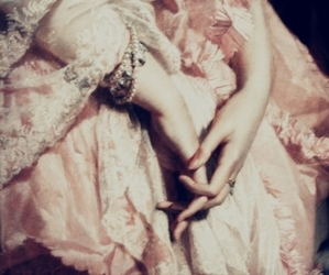 hands, dress, and pink image