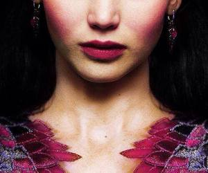 katniss, hunger games, and girl on fire image