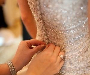 bride, close up, and wedding image