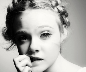 black and white and ella fanning image