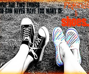black and white, quote, and sneakers image