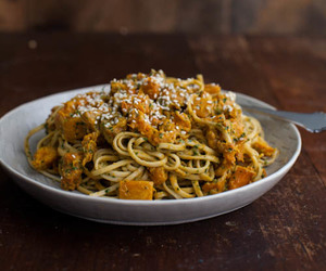 food, pasta, and butternut squash image