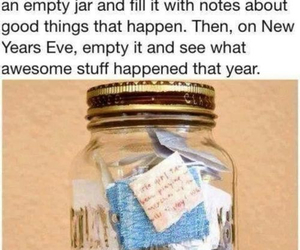 new year, jar, and notes image