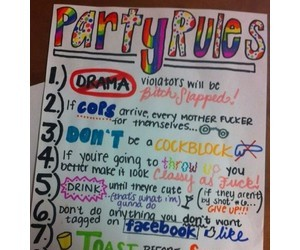 party, quotes, and rules image