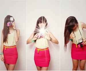 colorblock, girl, and photography image