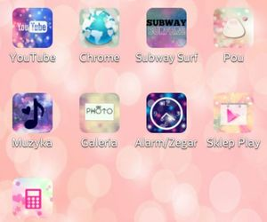 android, girly, and icons image