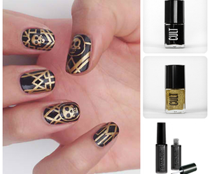 gatsby, gold, and nails image