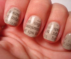 adorable, nails, and text image