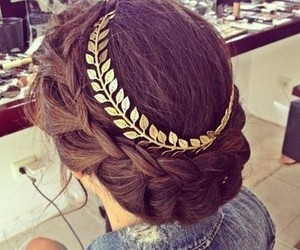 gold, accesoires, and hair image