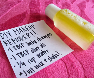 diy, makeup, and remover image