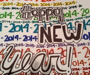 colorful, drawing, and happy new year image