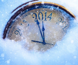 2014, new year, and snow image