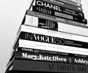 fashion, books, and vogue image