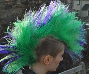green hair, Mohawk, and punk image