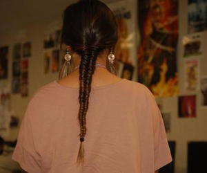 braid, fishtail, and girl image