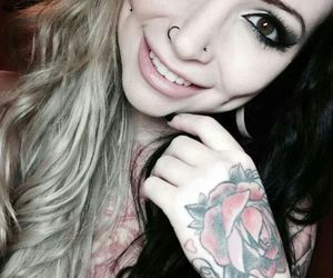 tattoo, piercing, and makeup image