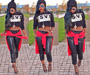 dope, swag, and black image