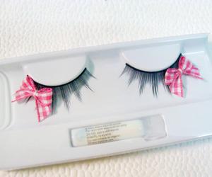 bow, eyelashes, and pink image