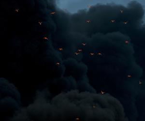 bird, clouds, and smoke image