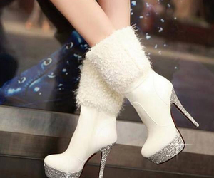 fuzzy, girly, and high heels image