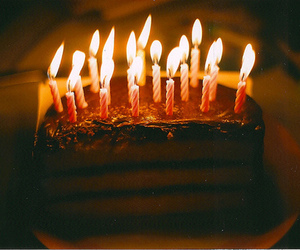 cake, candle, and vintage image