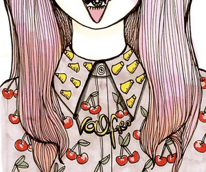 drawing, cherry, and valfre image
