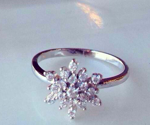 diamonds, ring, and silver image