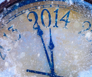2014, new year, and clock image