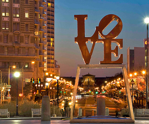 love, city, and light image