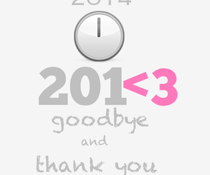2014, goodbye, and happy new year image