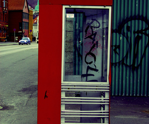 bergen, colors, and payphone image