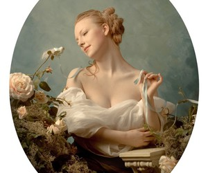 baroque, floral, and pastel image