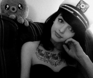 girl, tiffany mays, and black and white image